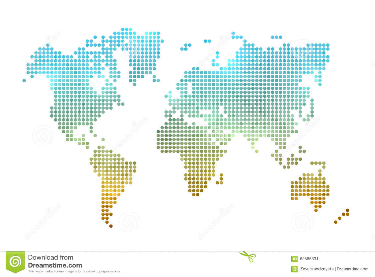 world map made of dots on white cool lighting effects eps10 vector stock