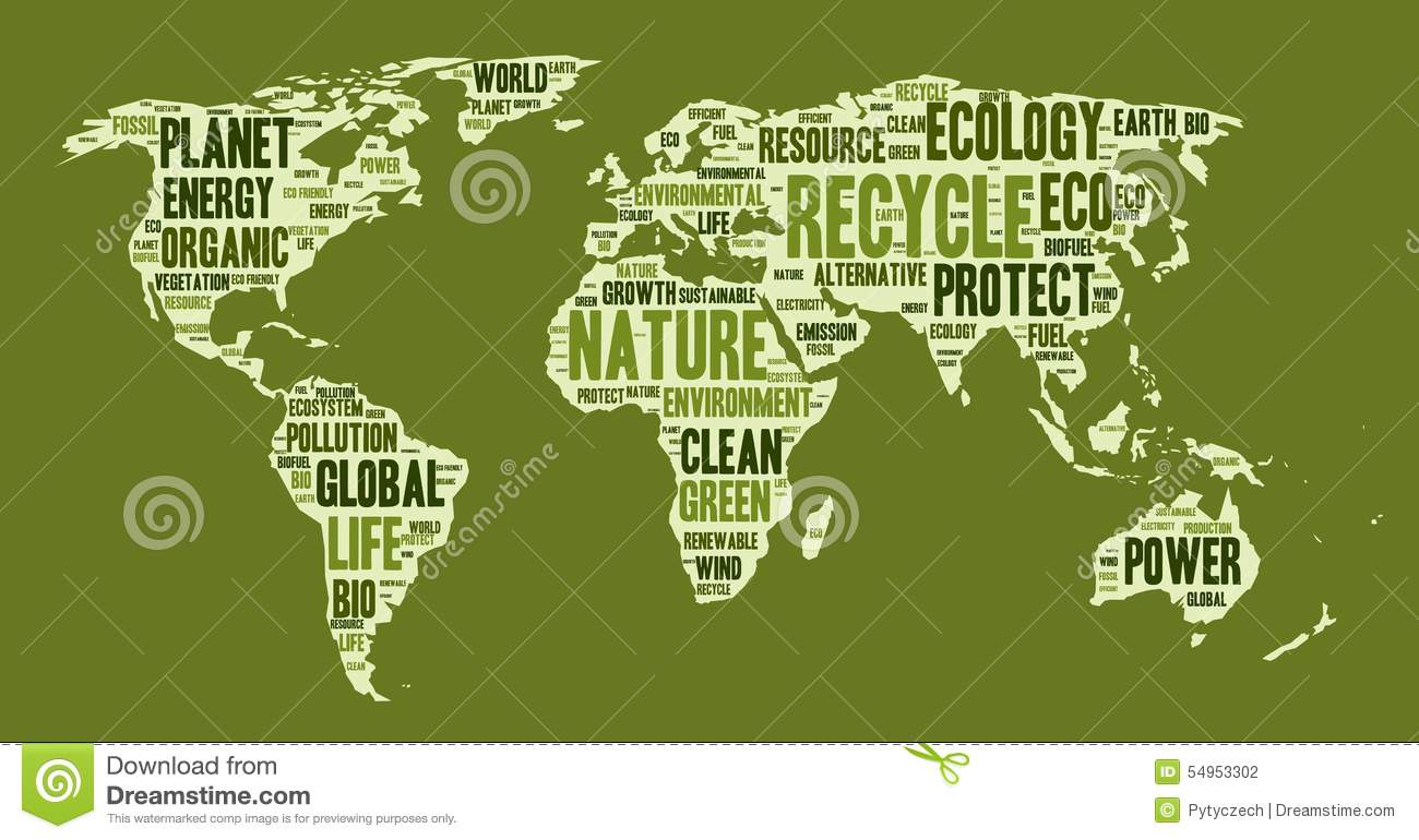 World map made of eco words stock vector illustration of organic world map made of eco words gumiabroncs Gallery