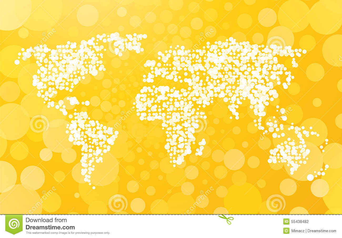 World Map Made Of Small Dots Stock Vector Image 55438482