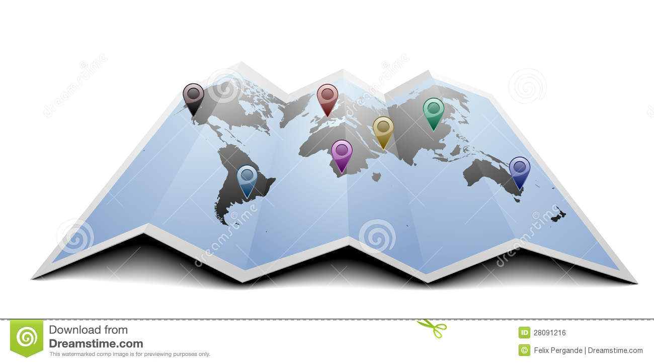World map with markers stock illustration illustration of country world map with markers gumiabroncs Gallery