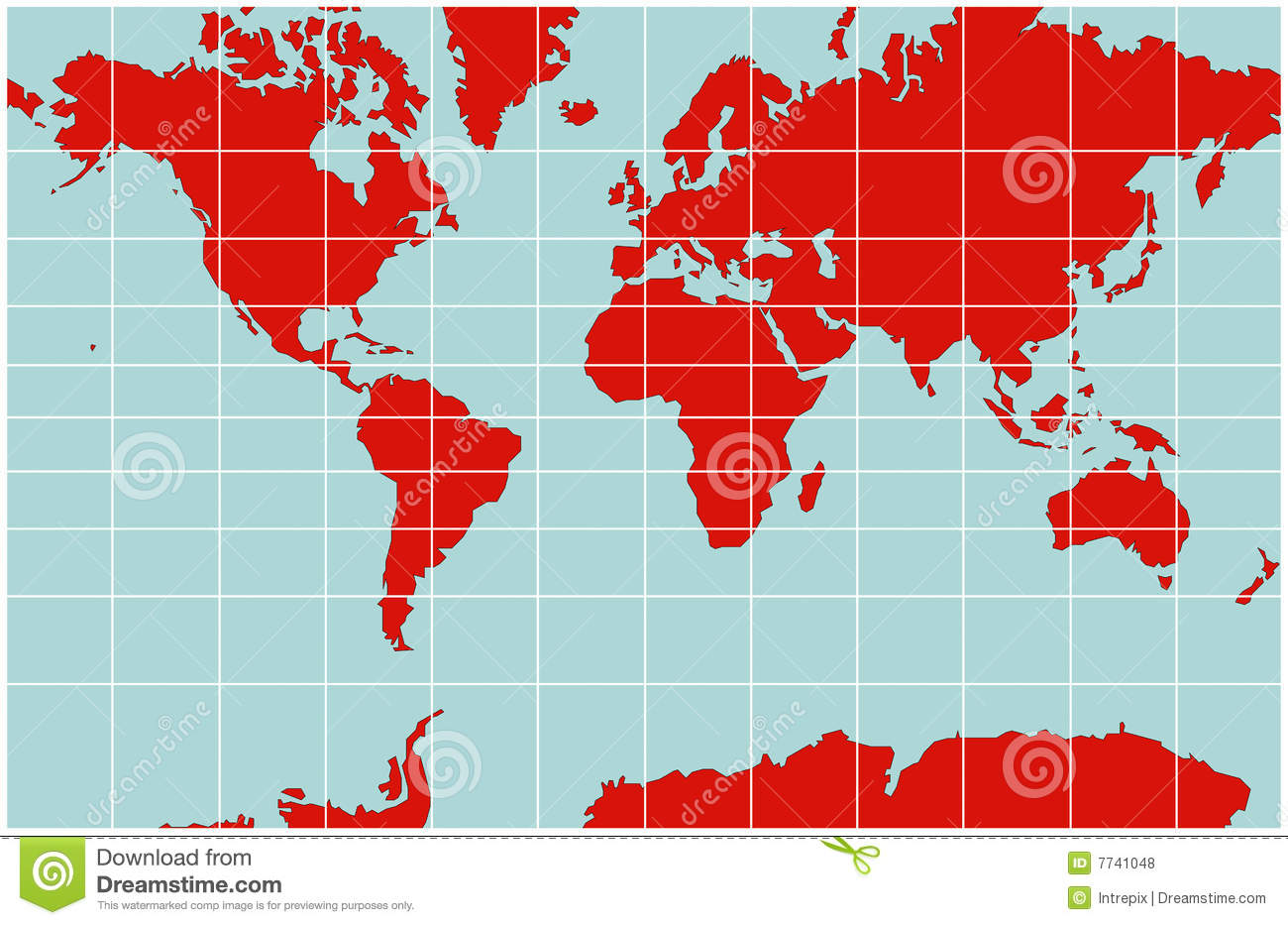 World map mercator projection stock vector illustration 7741048 world map mercator projection royalty free stock photo sciox Choice Image