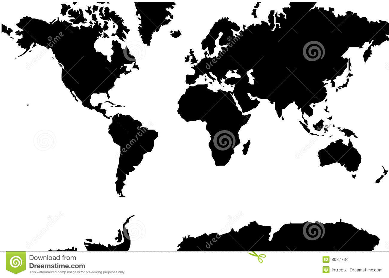 World map mercator projection stock vector illustration of world map mercator projection gumiabroncs Choice Image