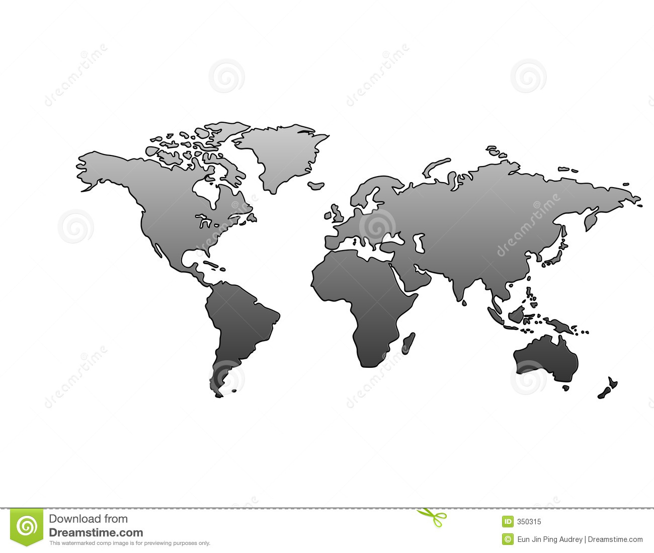 World map metallic stock illustration illustration of asia 350315 download comp gumiabroncs Gallery