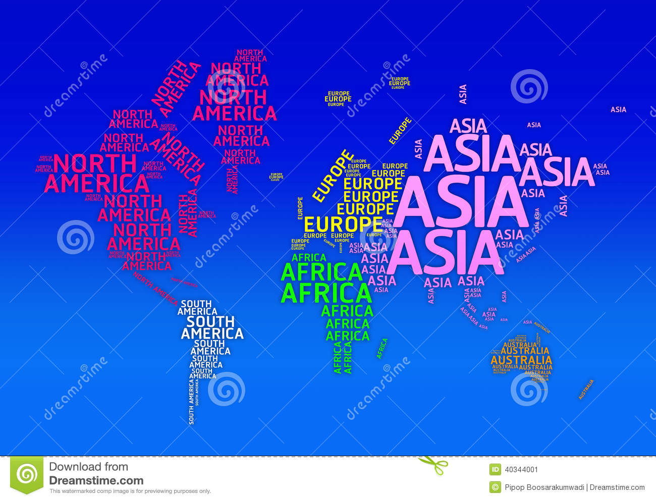 World map with names of continents typo map stock illustration download comp gumiabroncs Images