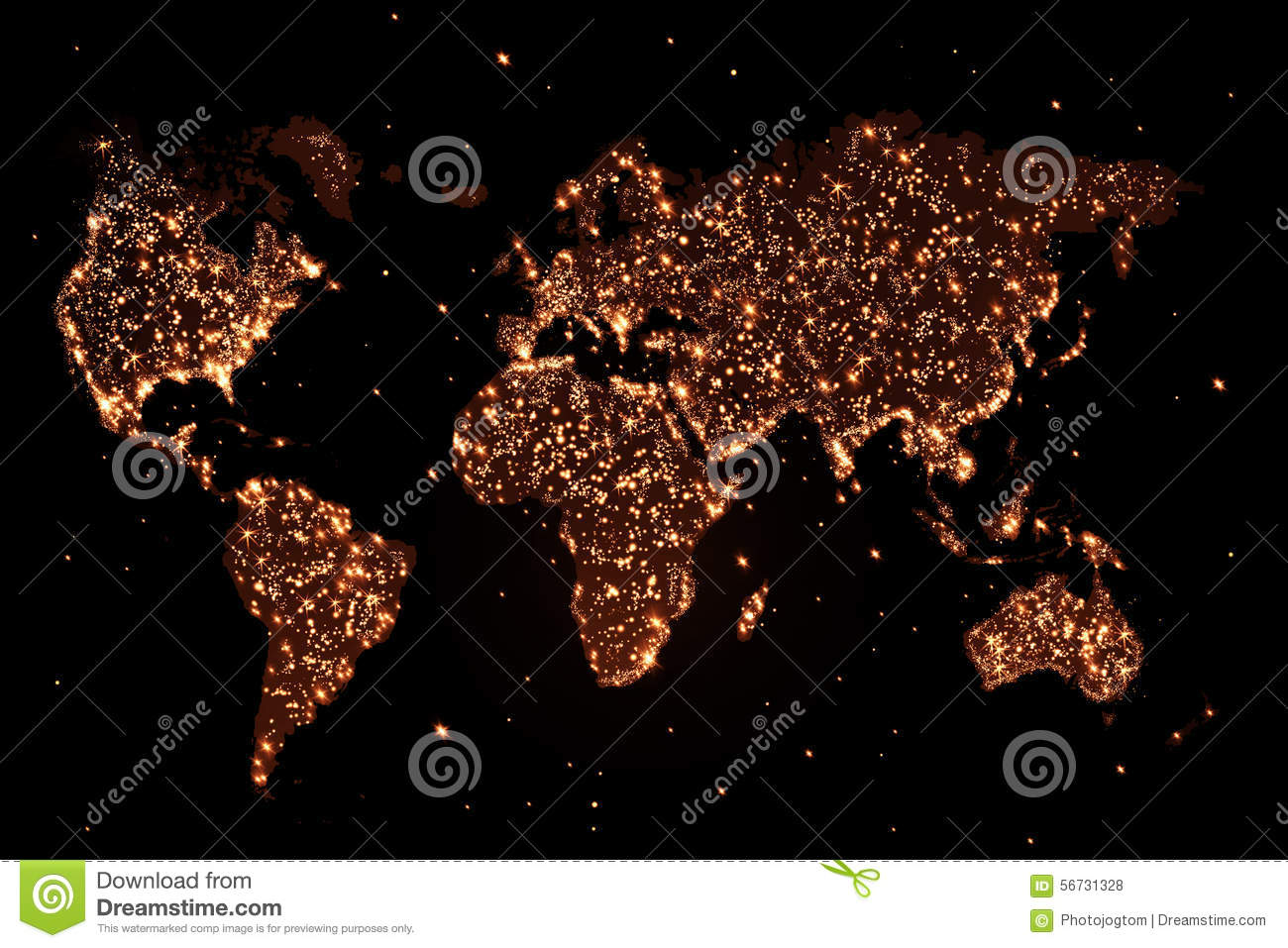 World map in the night with lights stock illustration world map in the night with lights gumiabroncs Images