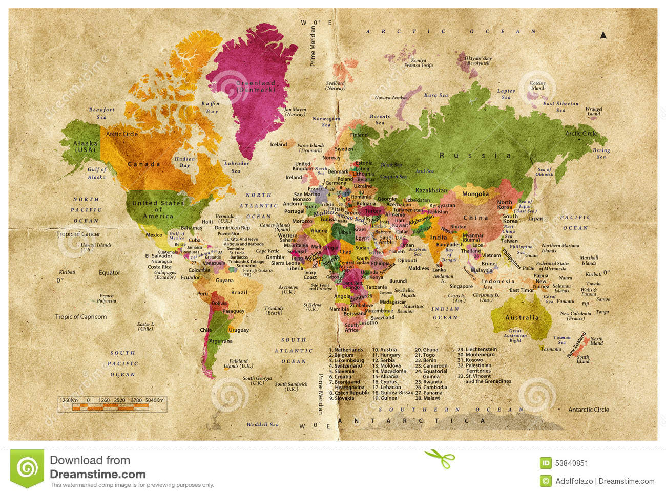 World Map Stock Illustration Illustration Of America 53840851