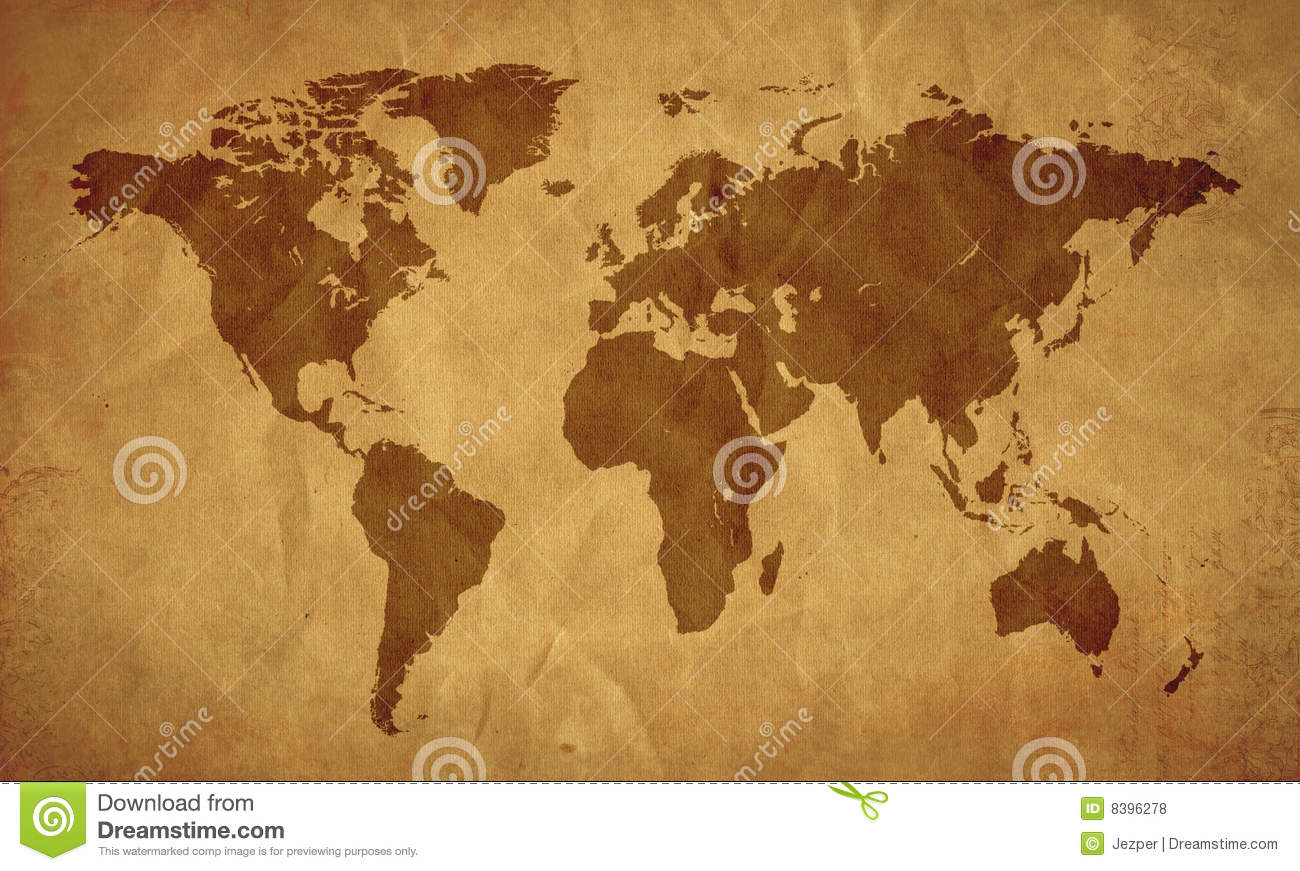 World map old look stock illustration illustration of antique 8396278 world map old look gumiabroncs Images