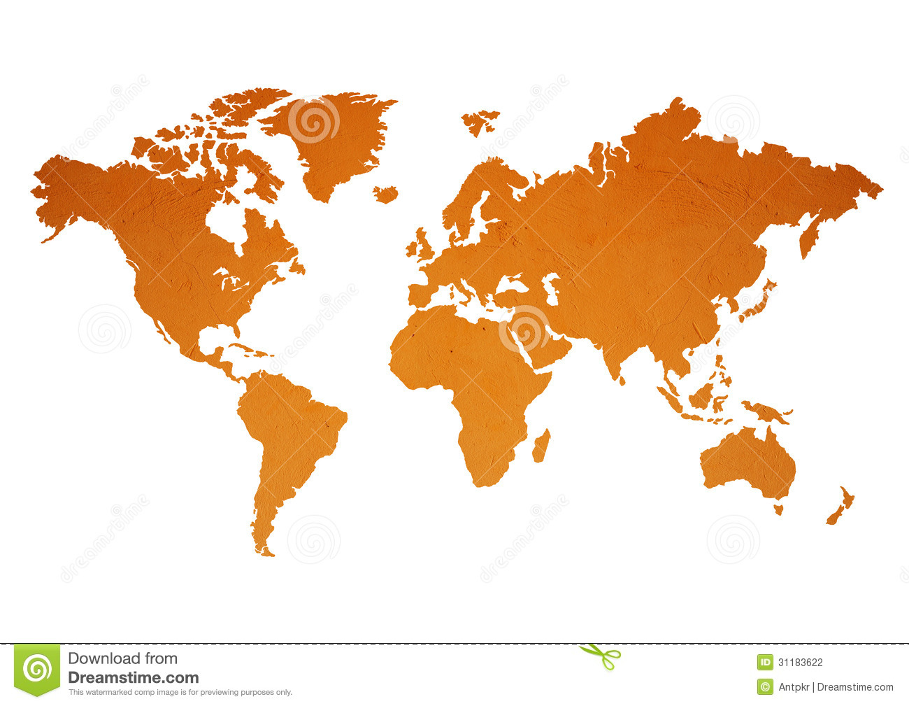 World map stock photo image of planet orange earth 31183622 world map gumiabroncs