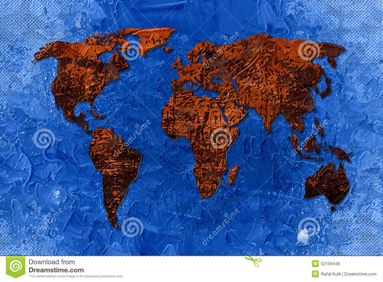 World Map Paint Design Art Stock Illustration Illustration Of - Authentic world map