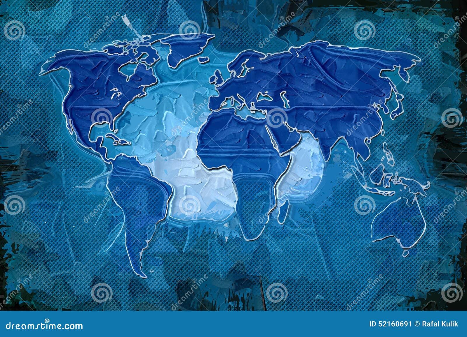 World map paint design art stock illustration illustration of drawn download world map paint design art stock illustration illustration of drawn 52160691 gumiabroncs Images