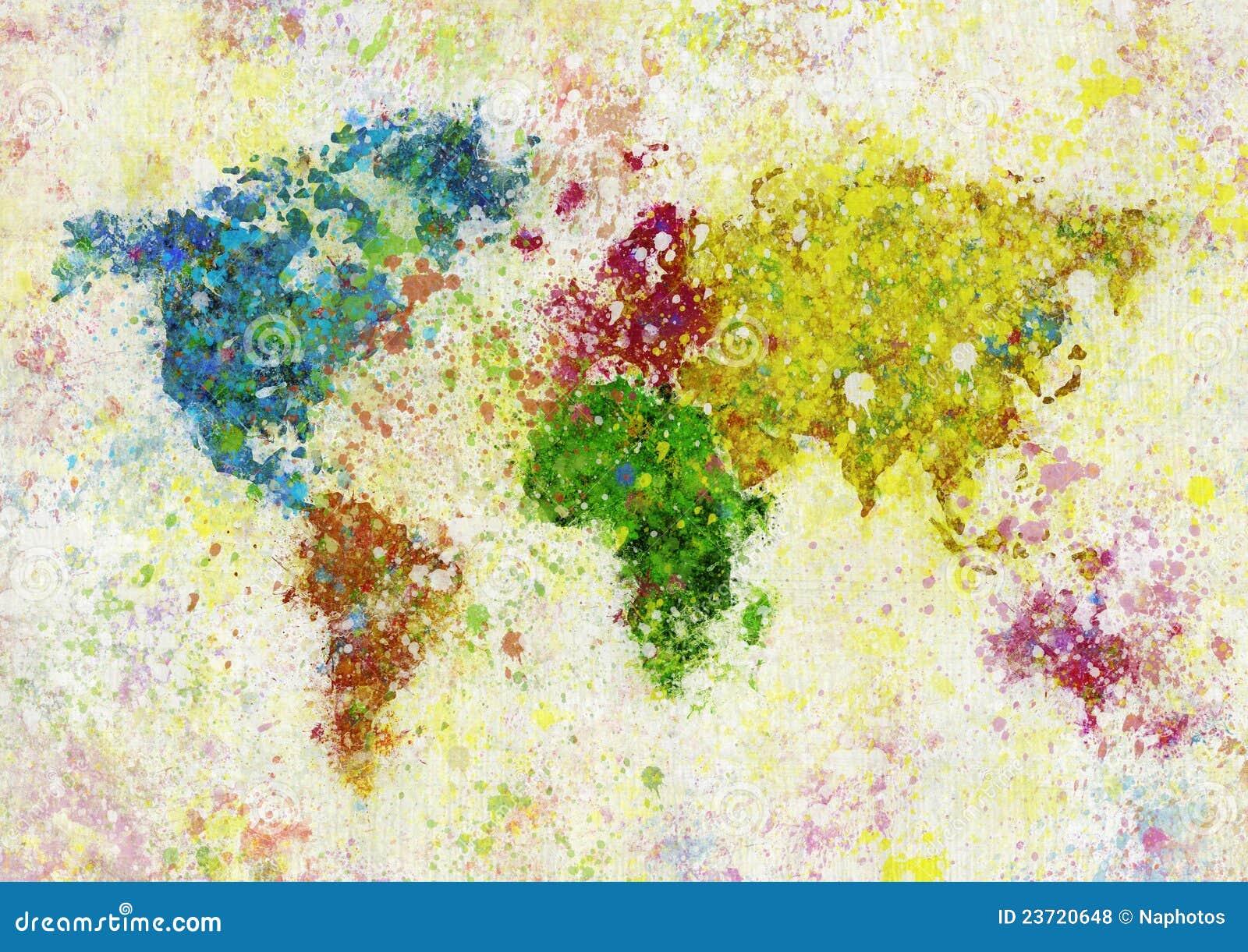 World map painting stock illustration illustration of directional world map painting royalty free stock photos gumiabroncs Images
