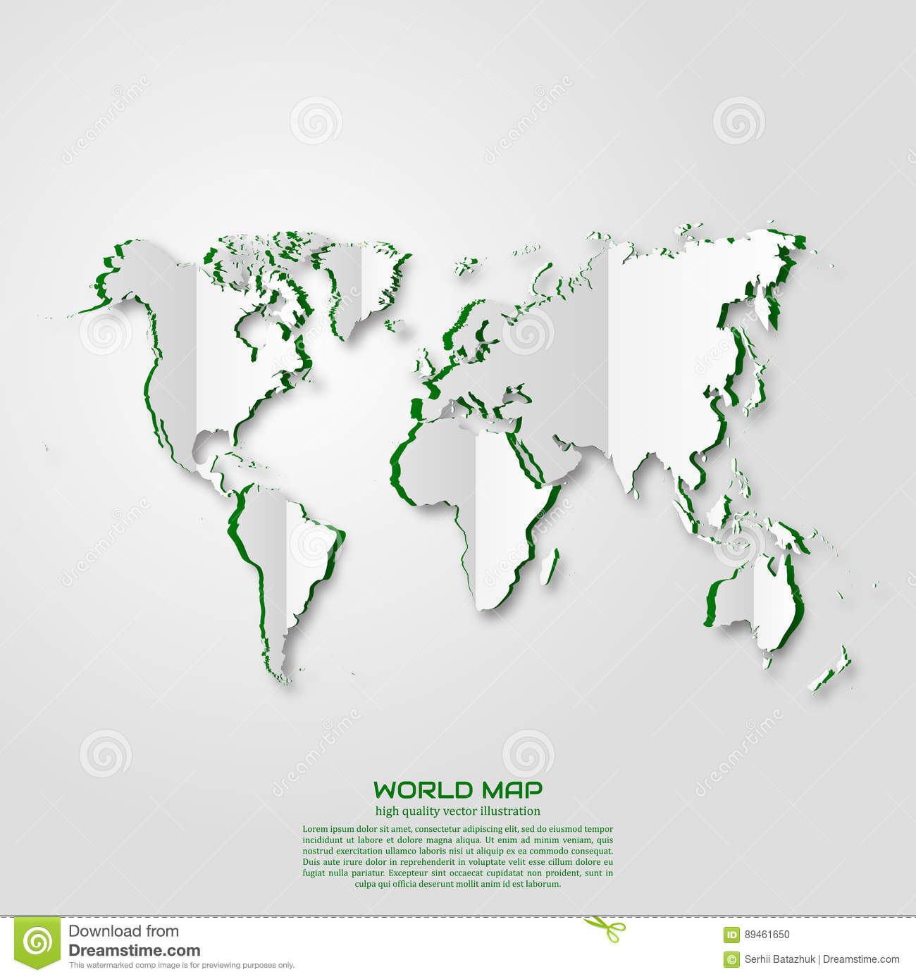 World Map Paper Art Style Projects Template For Business Vector