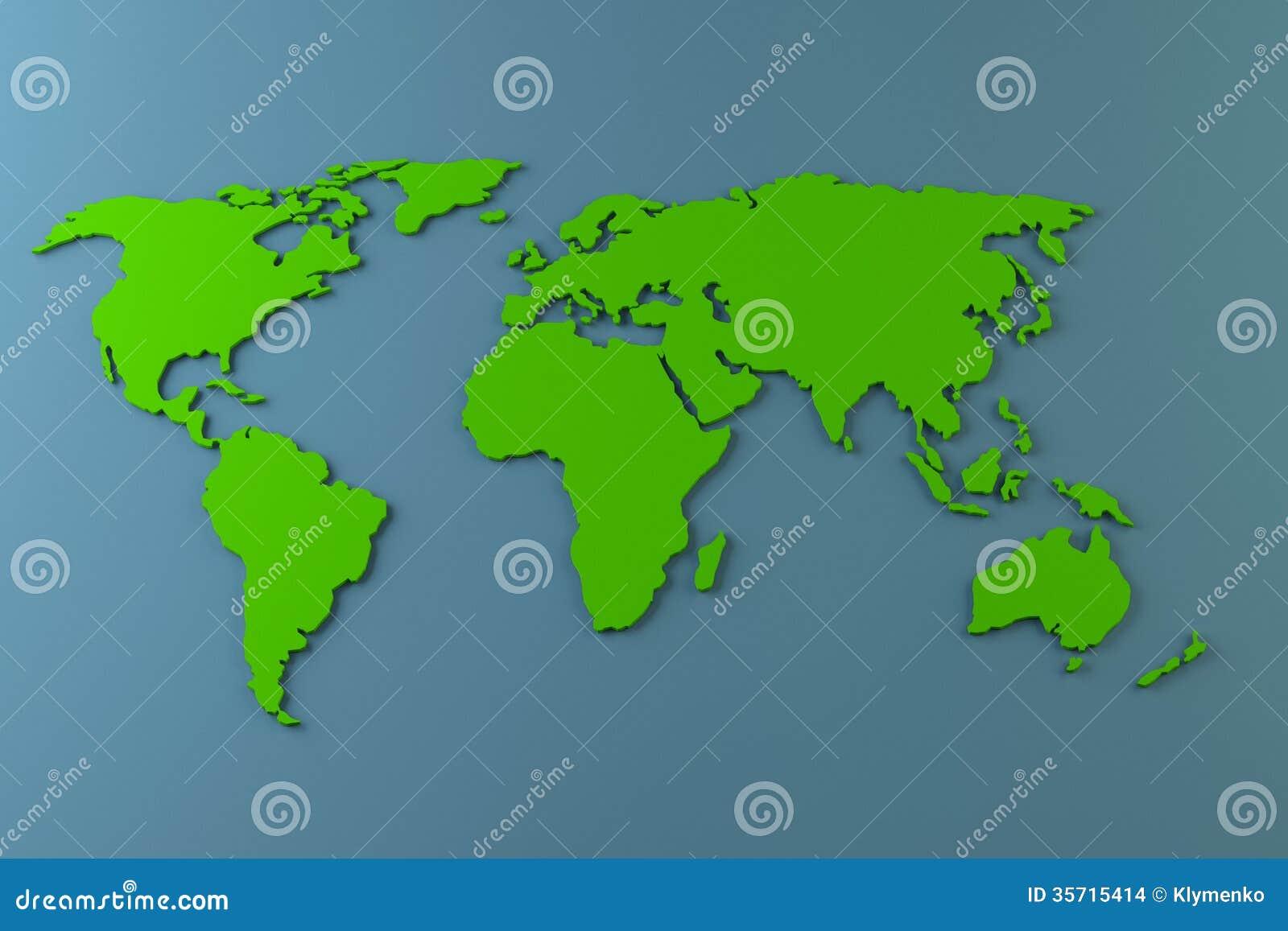 world map plain