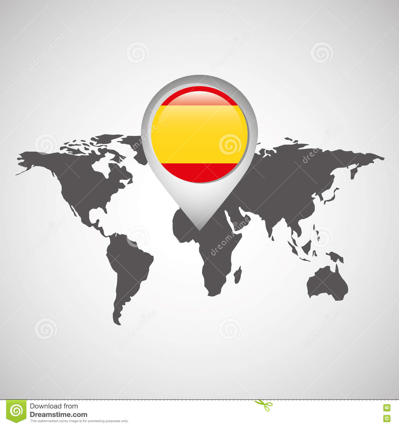 World map with pointer flag spain stock vector illustration of world map with pointer flag spain royalty free vector gumiabroncs Image collections