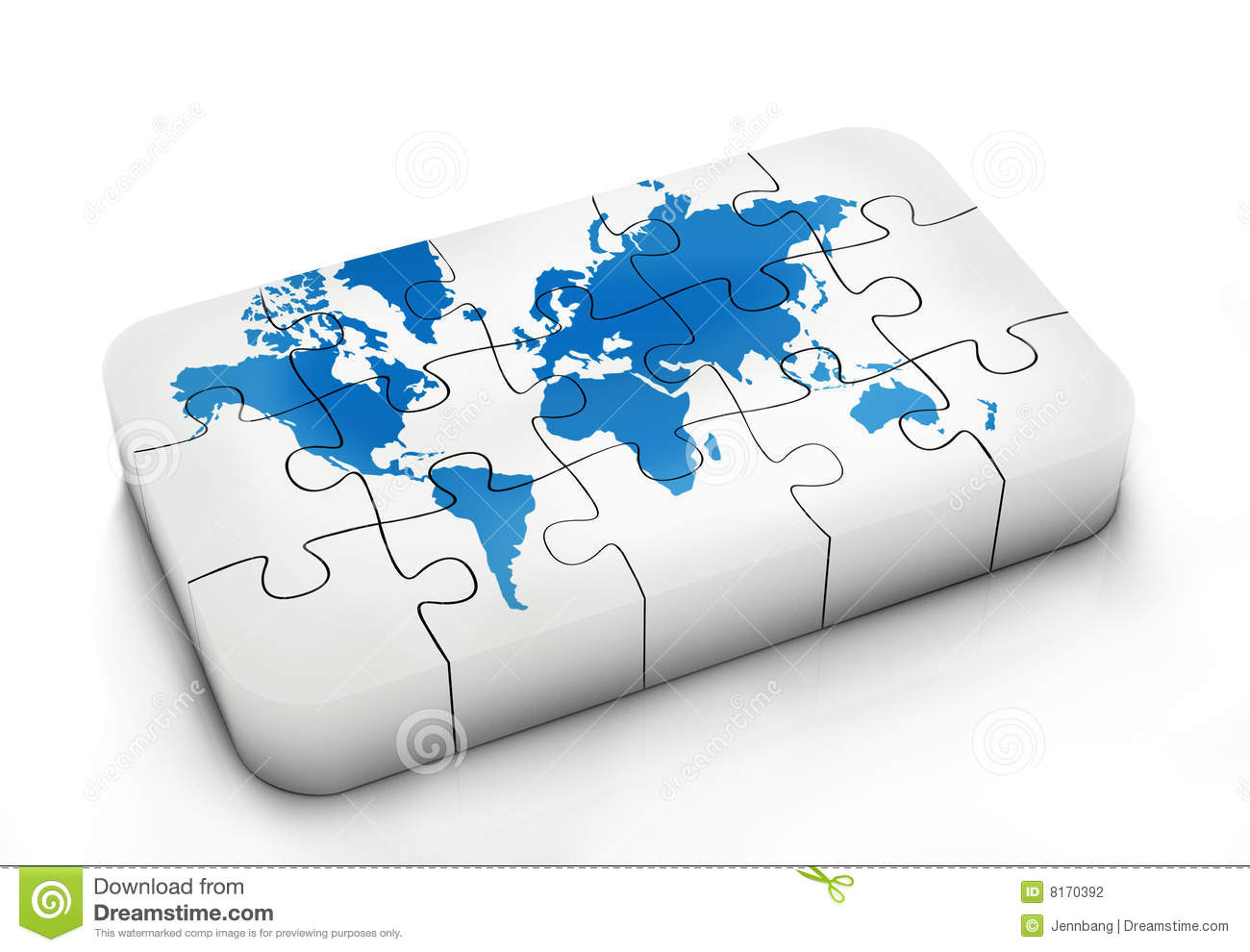 World Map In Puzzle Photography Image 8170392 – Map World Puzzle
