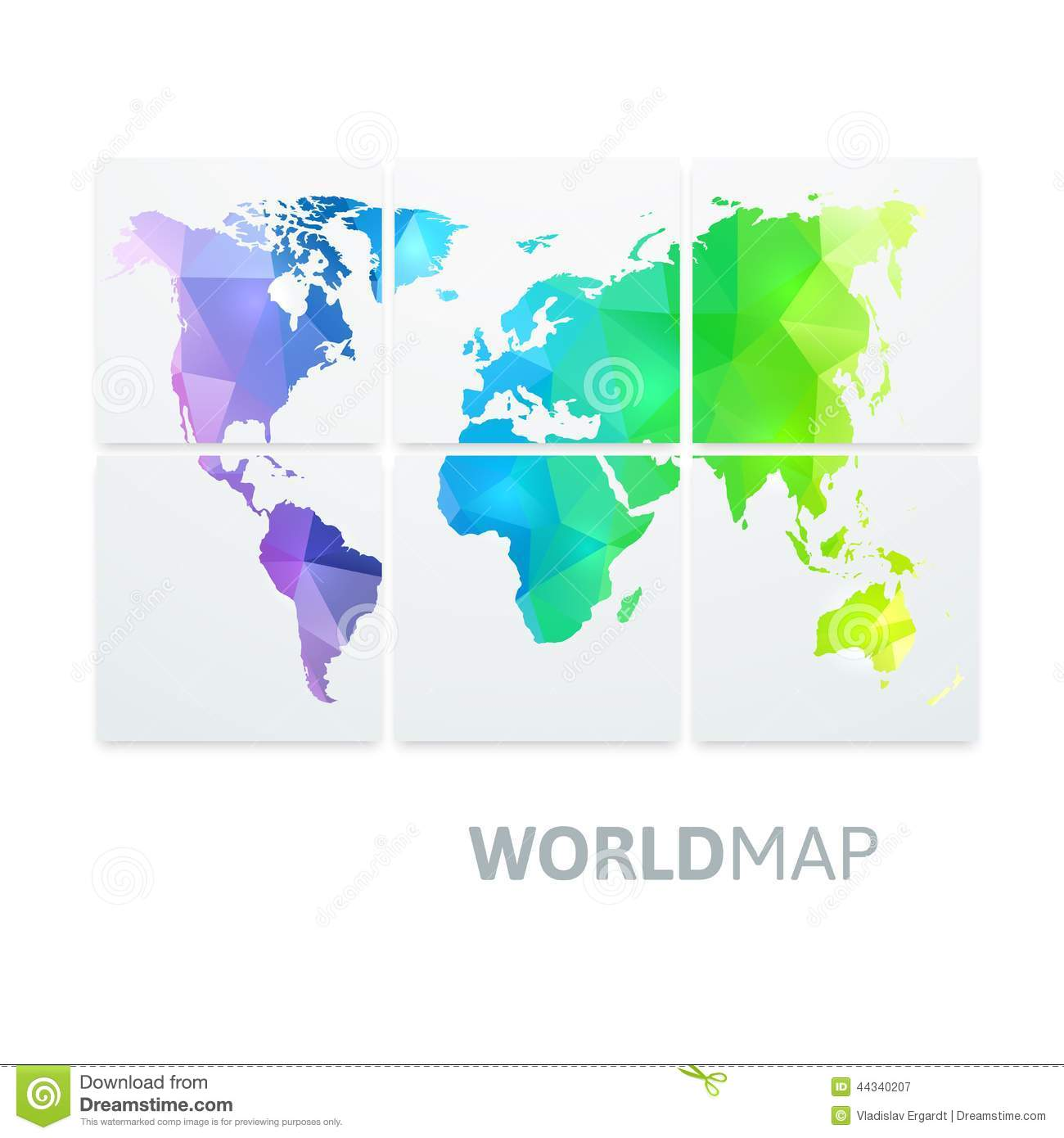 World map of rainbow color stock vector illustration of africa world map of rainbow color africa continent gumiabroncs Gallery