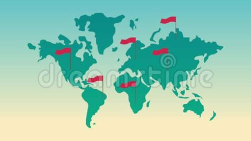World map with red flags hd animation stock video video of world map with red flags hd animation stock video video of animation node 114064039 gumiabroncs Images
