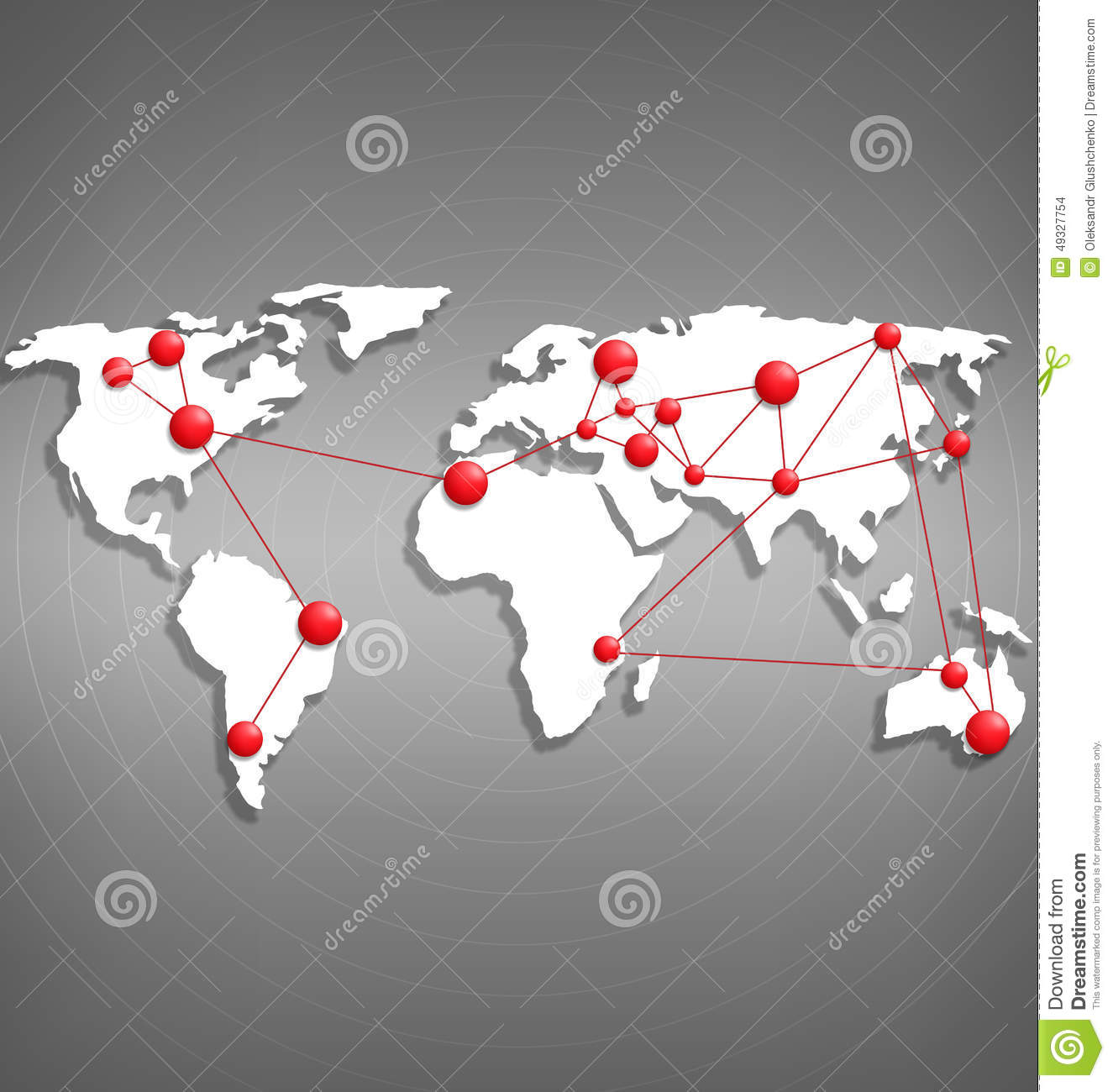 World map with red point marks on grayscale stock vector world map with red point marks on grayscale gumiabroncs Image collections
