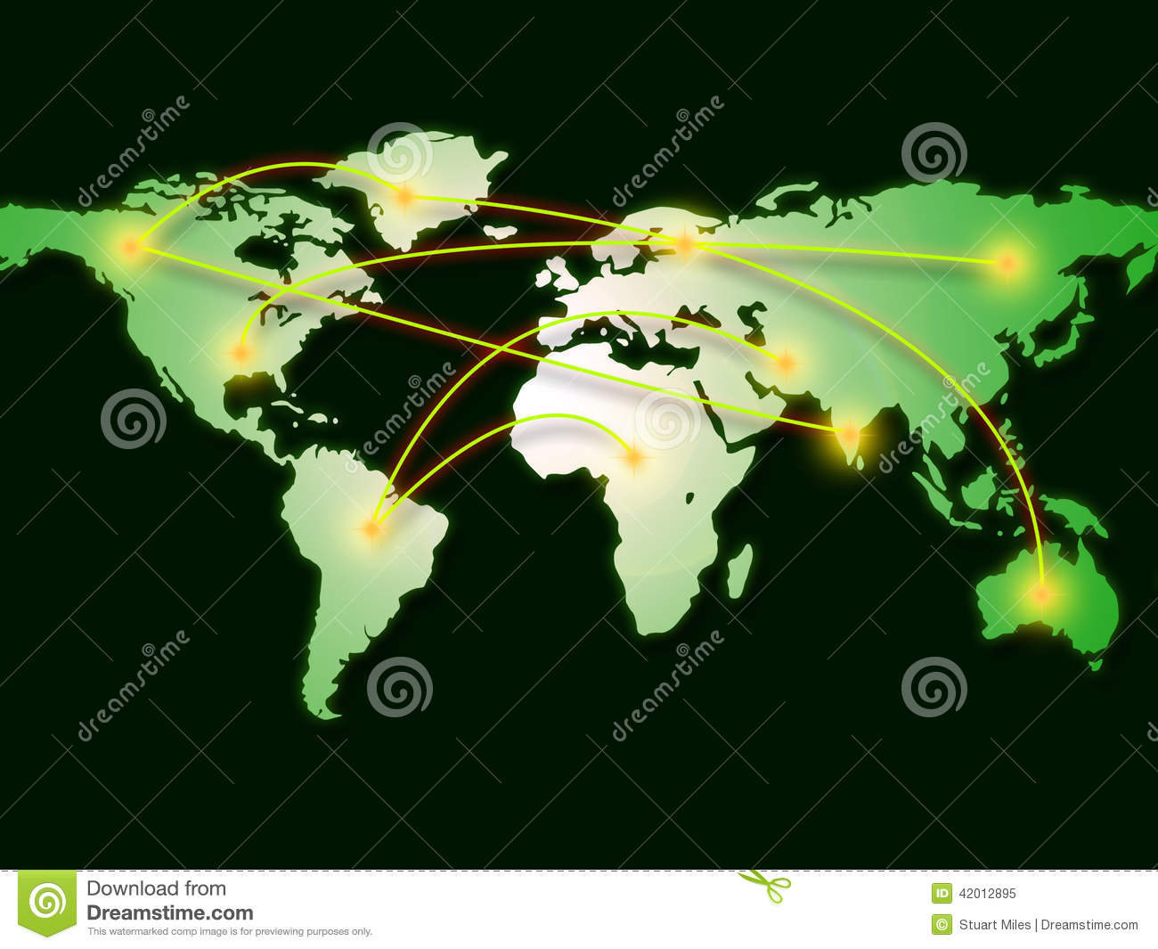 World map represents computer network and cartography stock royalty free illustration download world map represents computer network and cartography stock illustration gumiabroncs Choice Image