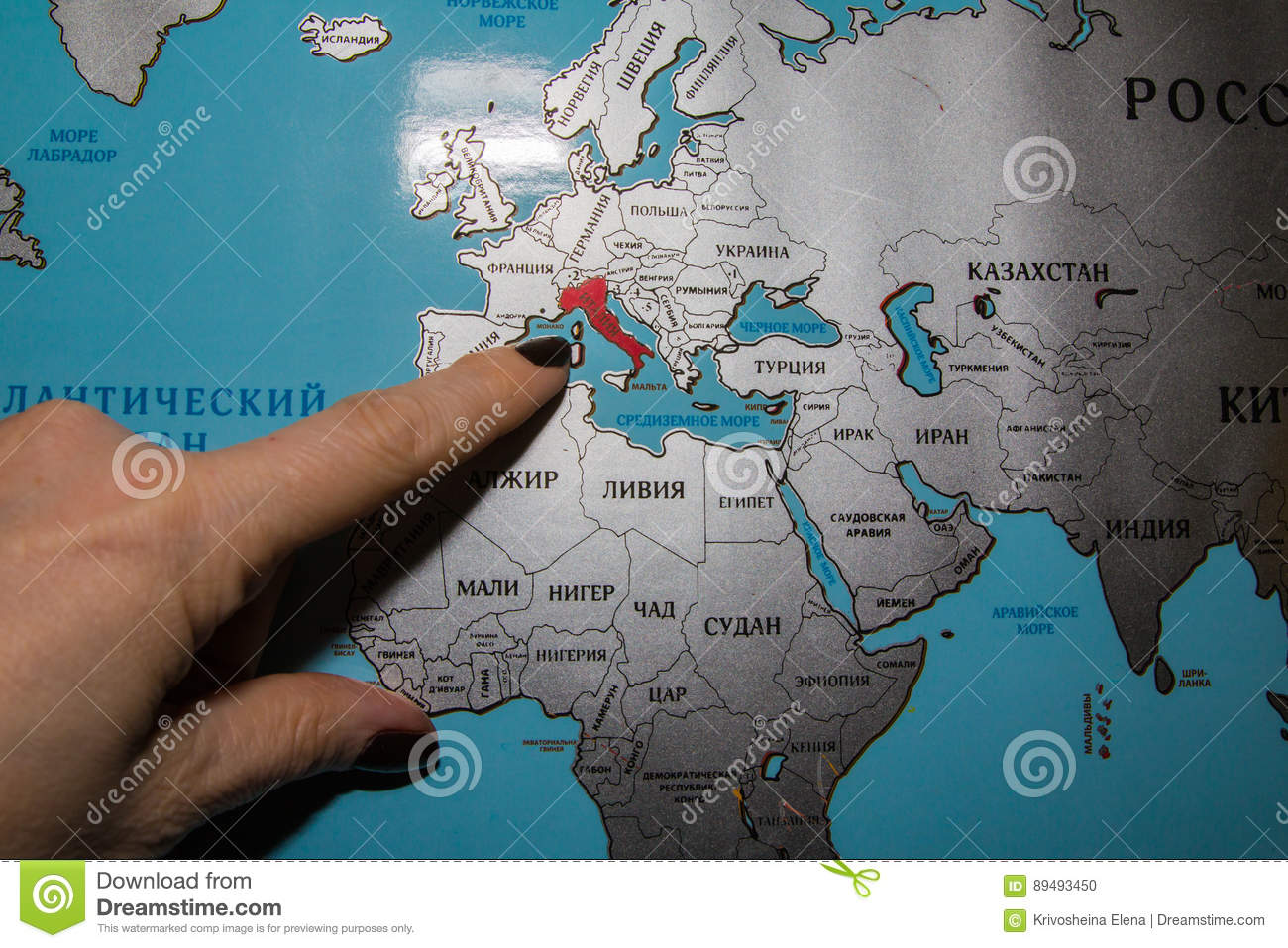 World map in russian language stock photo image of travel water world map in russian language travel water gumiabroncs Images
