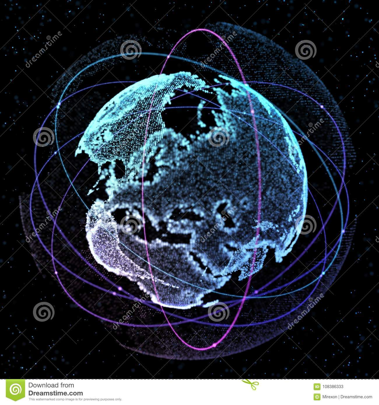 World map satellite representing the global global network royalty free illustration download world map satellite gumiabroncs Images