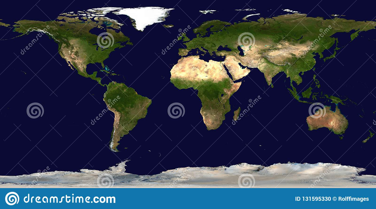 World Map. Continents And Oceans Stock Illustration - Illustration ...