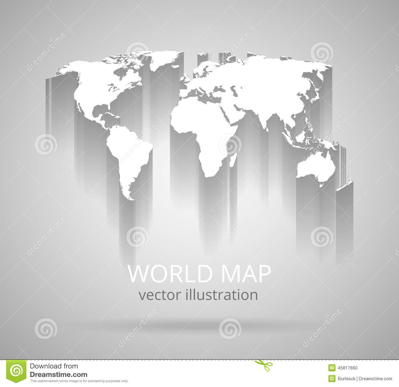 World map with shadow stock vector illustration of globe 45817660 download comp gumiabroncs Choice Image