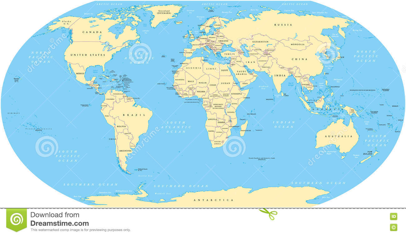 World Map stock vector. Illustration of eurasia, border ...