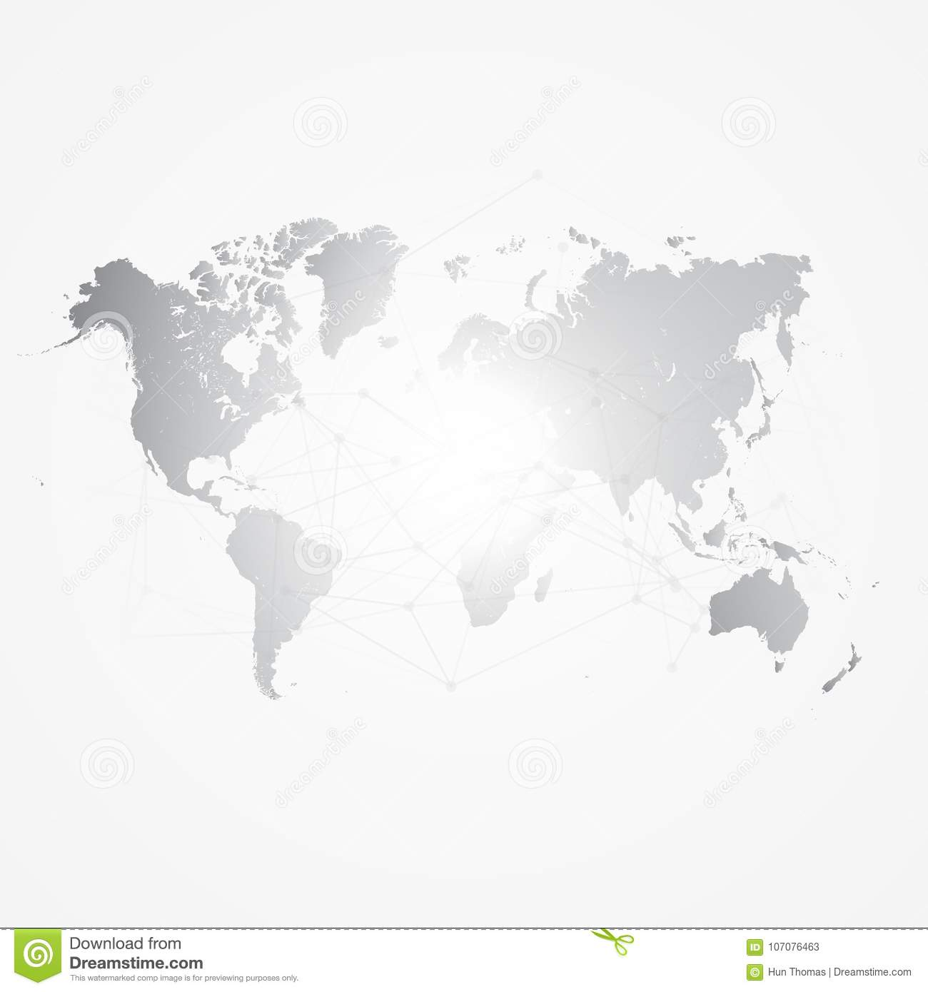 World map silhouette with connection grid vector illustration royalty free illustration download world map silhouette with connection gumiabroncs Image collections