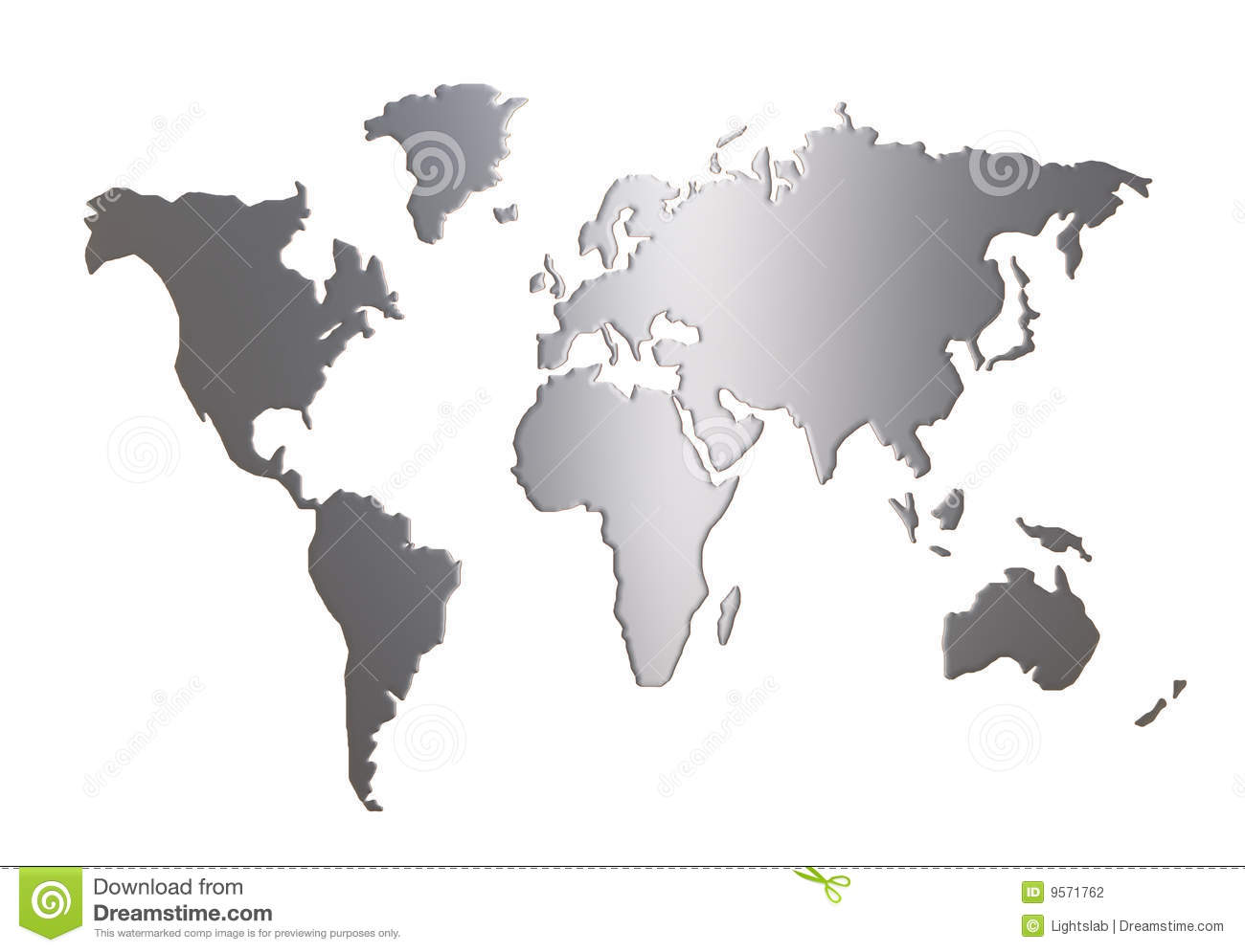 World Map Silhouette I...