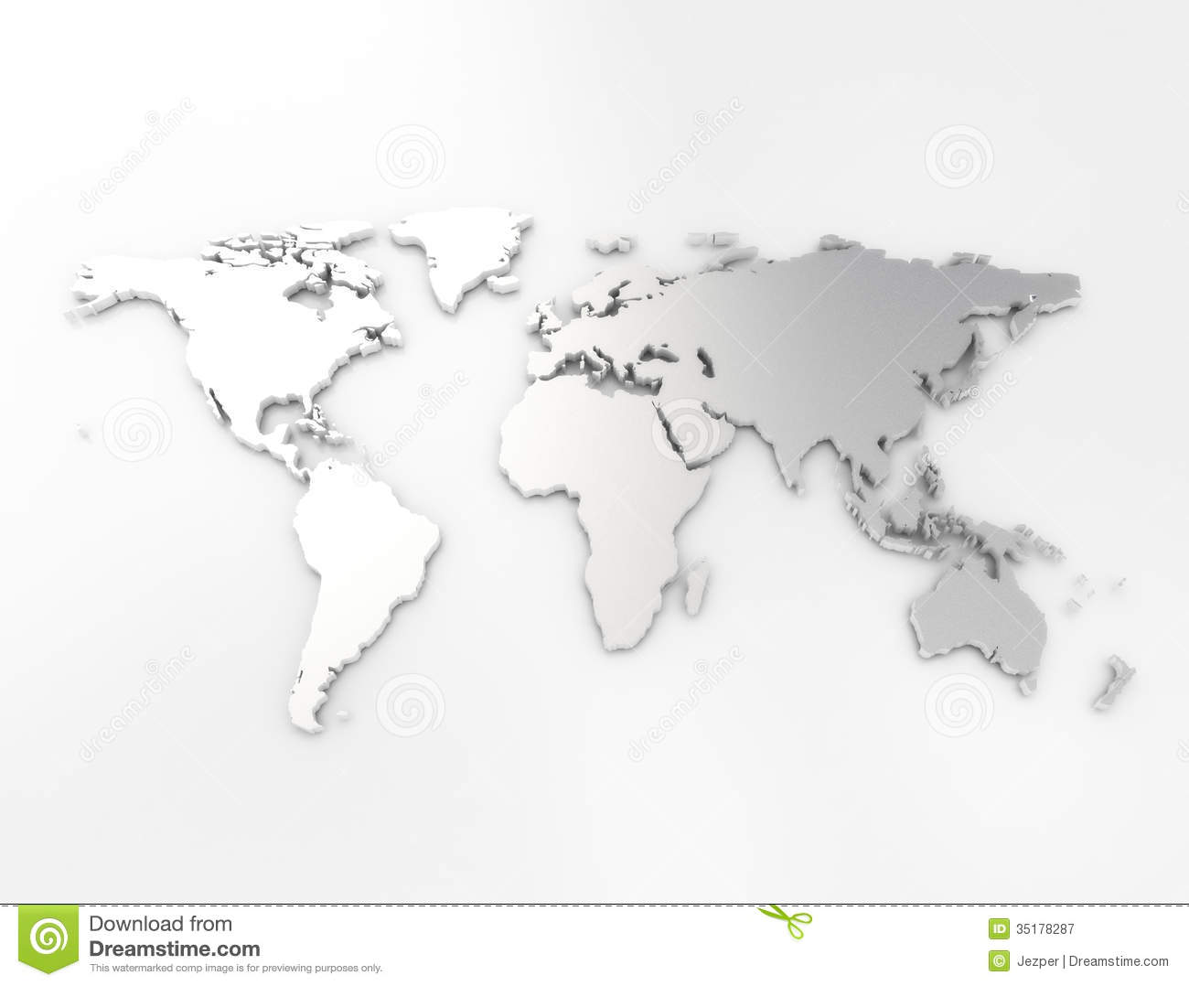 World Map Silver Texture High Resolution 3d Render