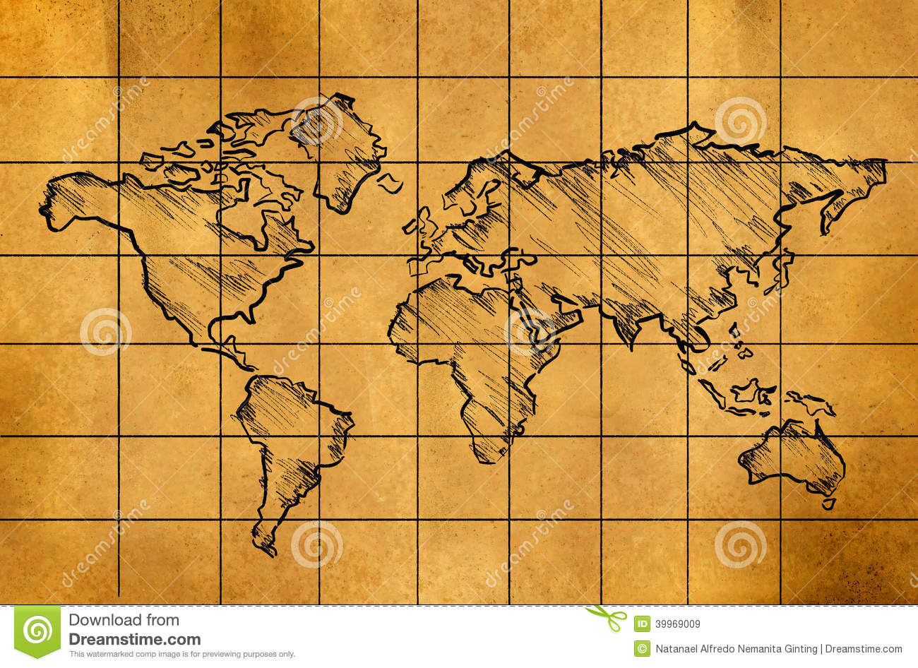 World map sketch on old paper stock illustration illustration of royalty free stock photo gumiabroncs Image collections