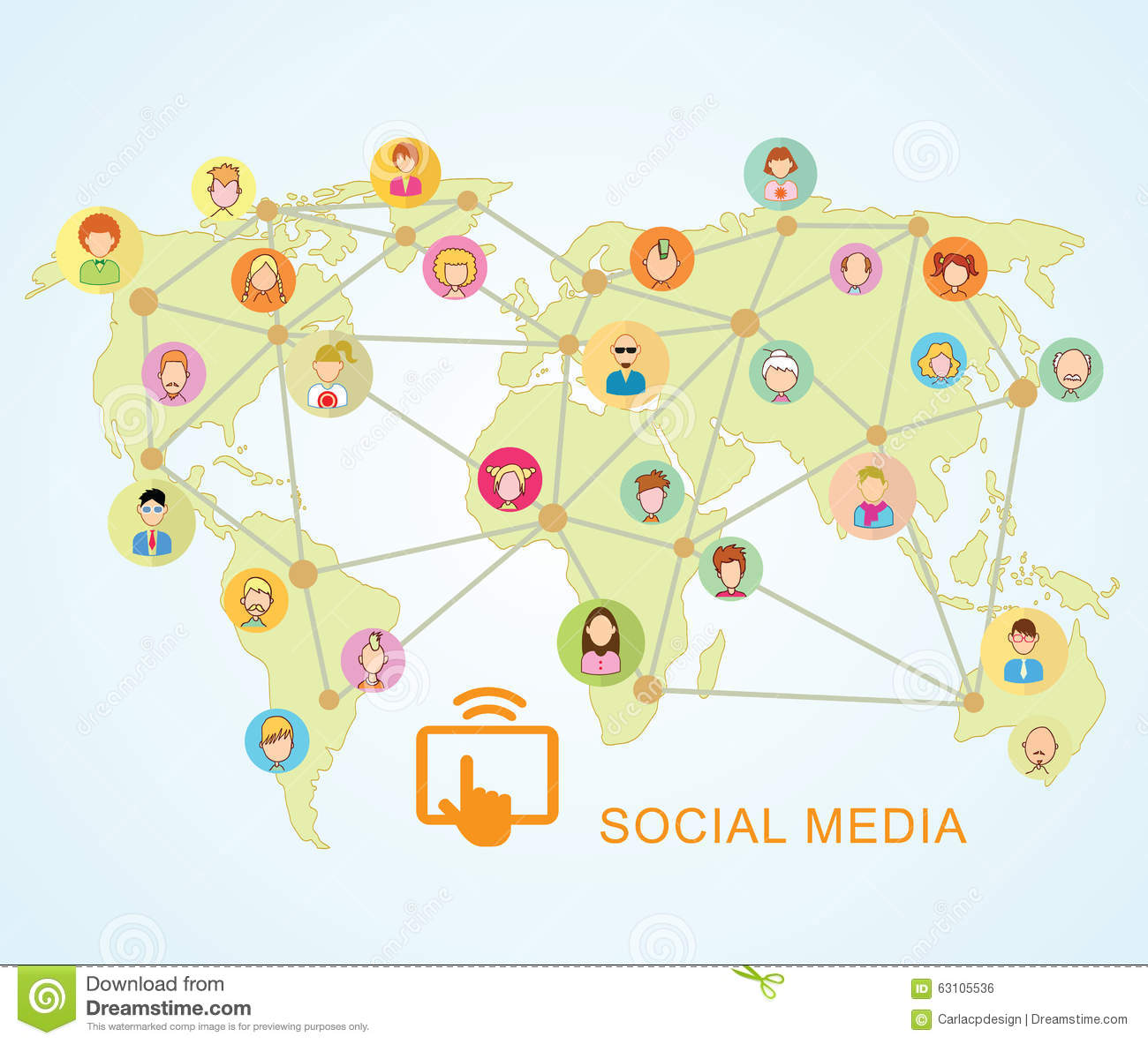 World mapsocial media communication internet network doodle vector world mapsocial media communication internet network doodle vector illustration dialog cellphone gumiabroncs Image collections