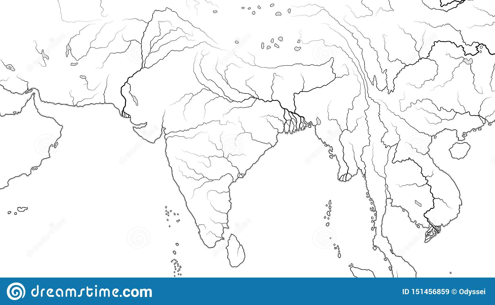 World Map Of SOUTH ASIA REGION And INDIA SUBCONTINENT ...