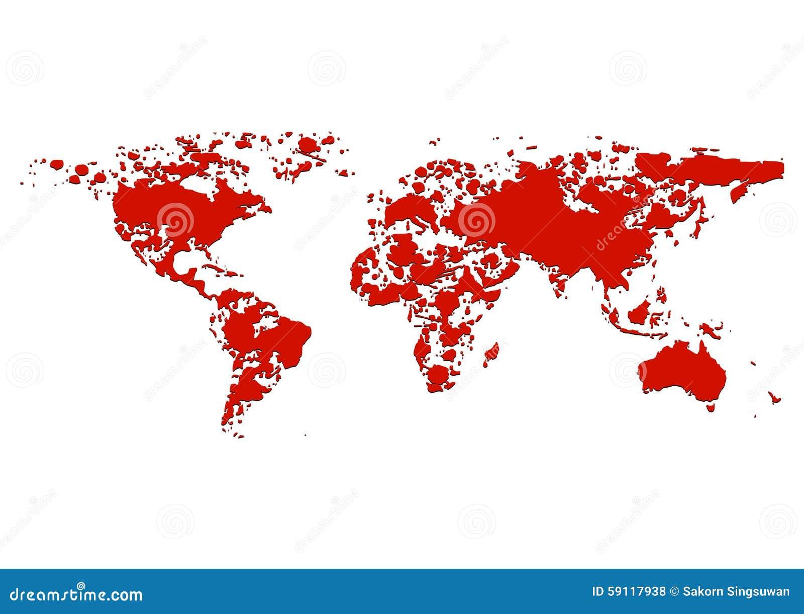 World map splatter red color illustration stock vector world map splatter red color illustration gumiabroncs Gallery