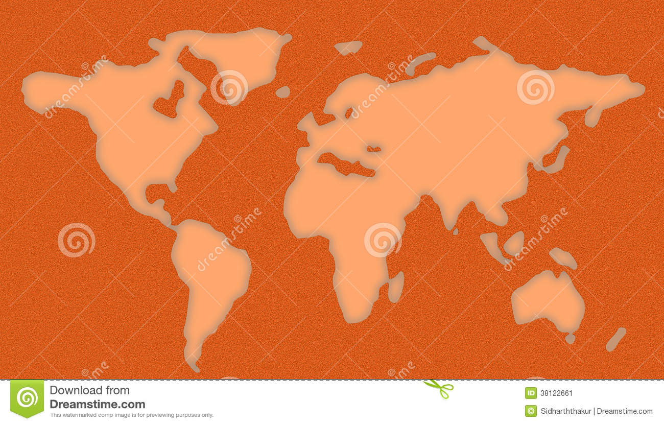 Download World Map Stencil Stock Illustration. Illustration Of Global    38122661