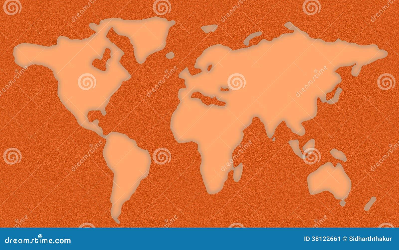 World Map Stencil Stock Image Image 38122661