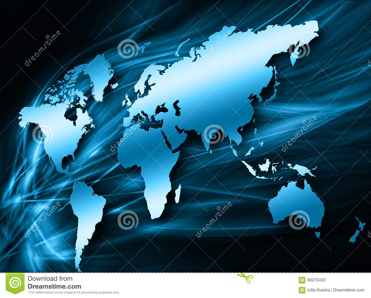 World map on a technological background glowing lines symbols of download comp gumiabroncs Choice Image