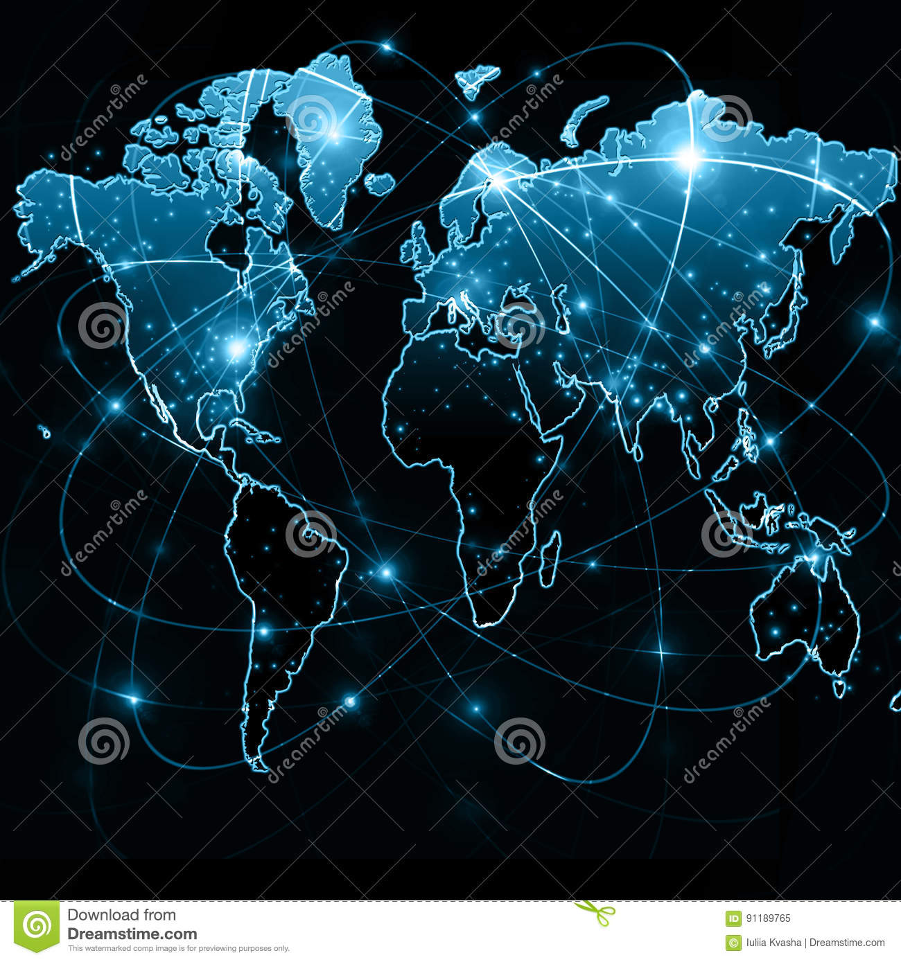 World map on a technological background glowing lines symbols of royalty free stock photo download world map gumiabroncs Image collections