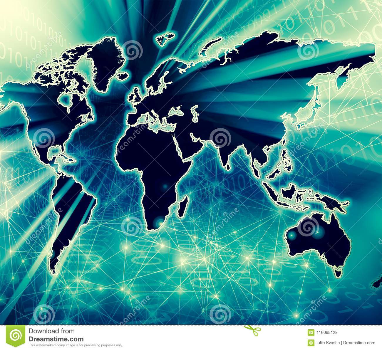 World map on a technological background glowing lines symbols of royalty free stock photo download world map gumiabroncs Choice Image