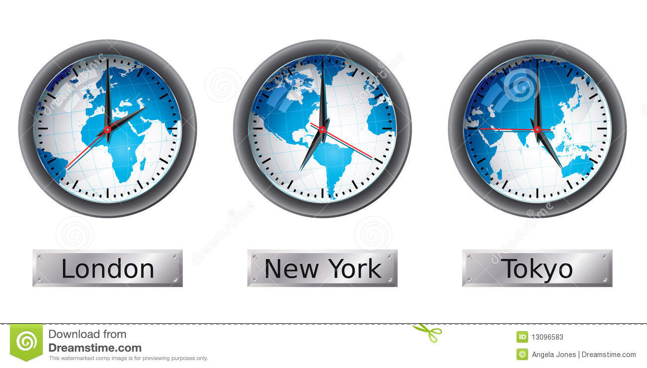 World map time zone clocks stock vector illustration of stock world map time zone clocks gumiabroncs Images