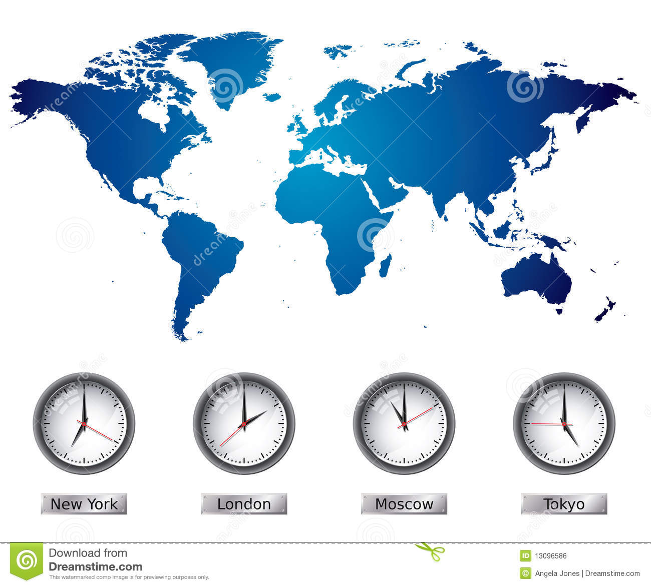 World map with time zones stock vector image of office 13096586 world map with time zones gumiabroncs Image collections