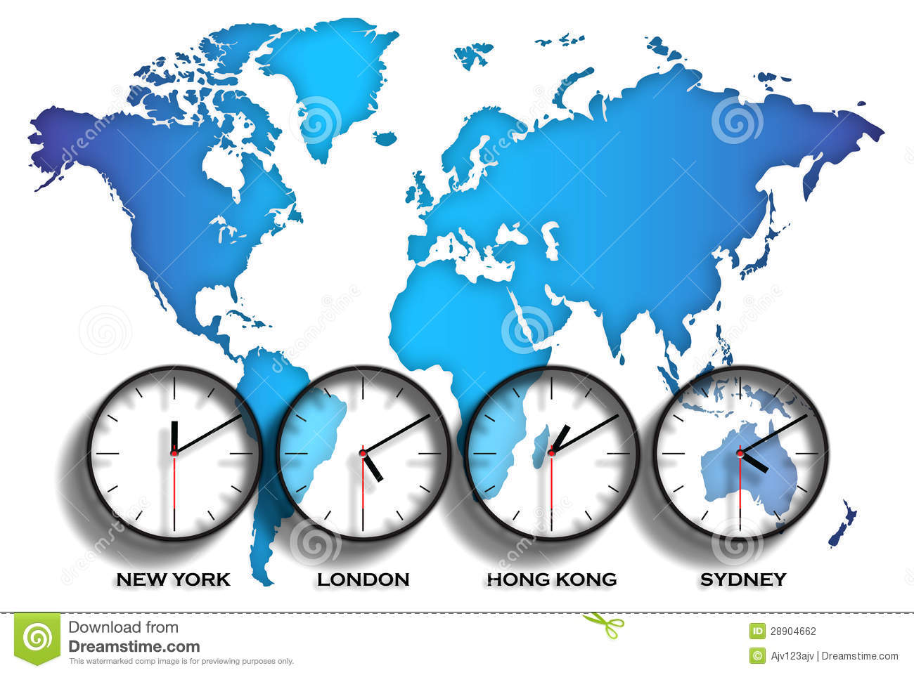 World map time zones stock illustration. Illustration of sydney ...