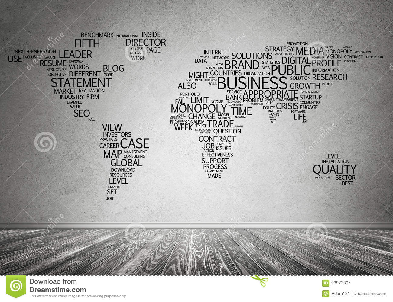 World Map In Typography Stock Image Image Of Cartography 93973305