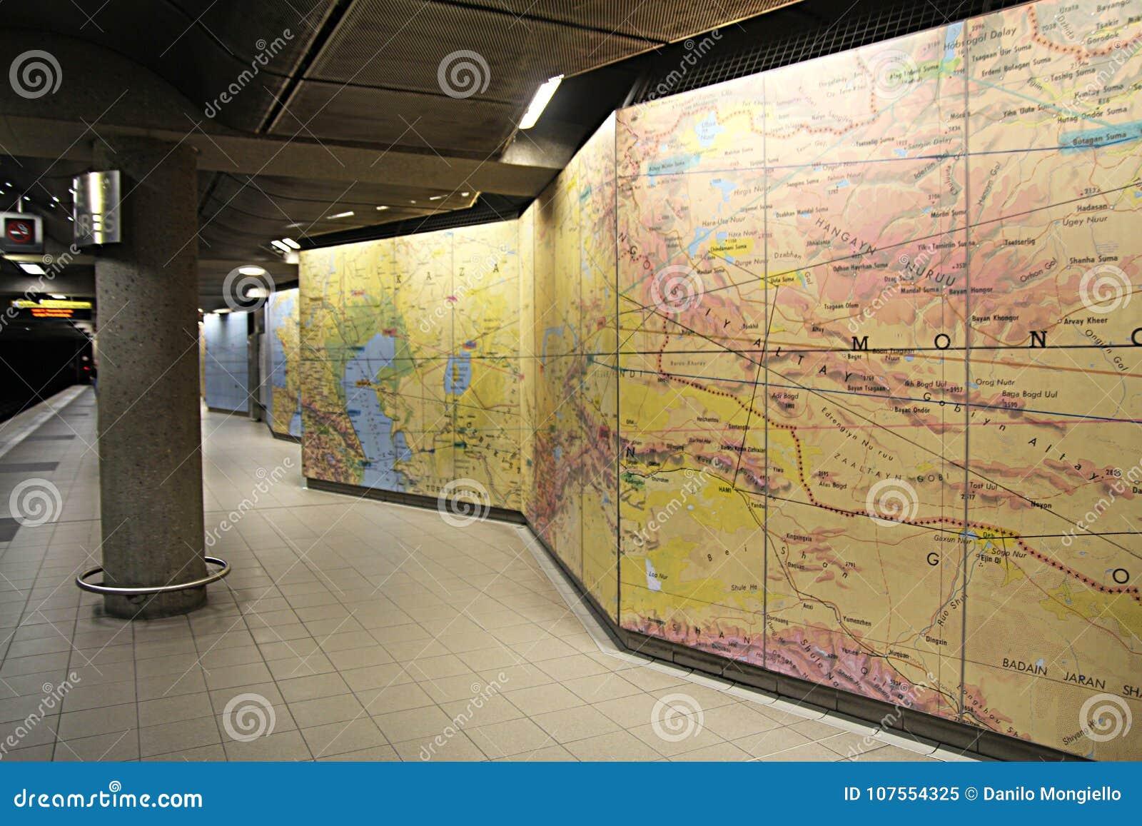 Lyon France Metro Map.Underground Map Stock Image Image Of Rail Modern Travel 107554325