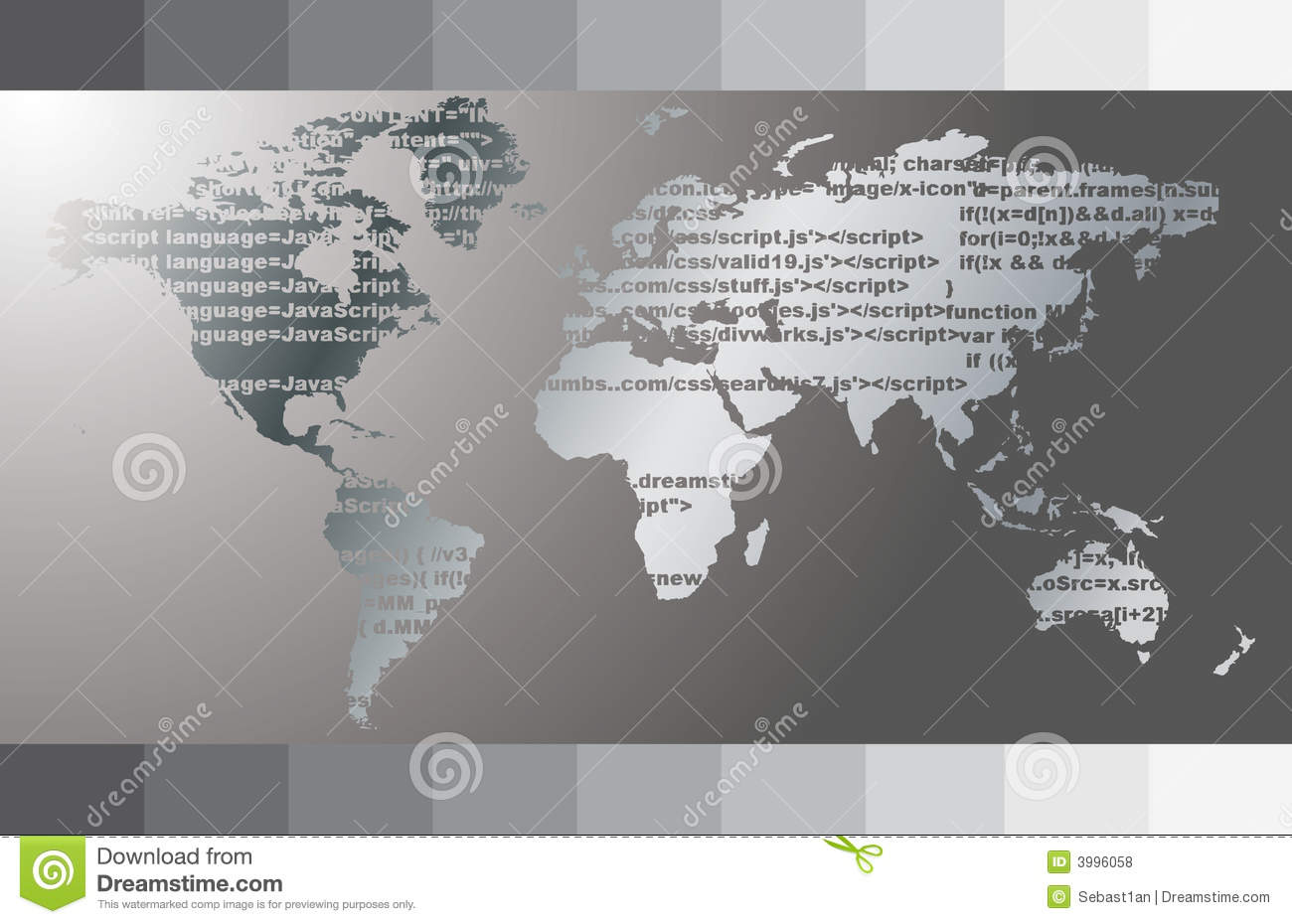 World map vector stock vector illustration of composite 3996058 world map java code abstract background gumiabroncs Image collections