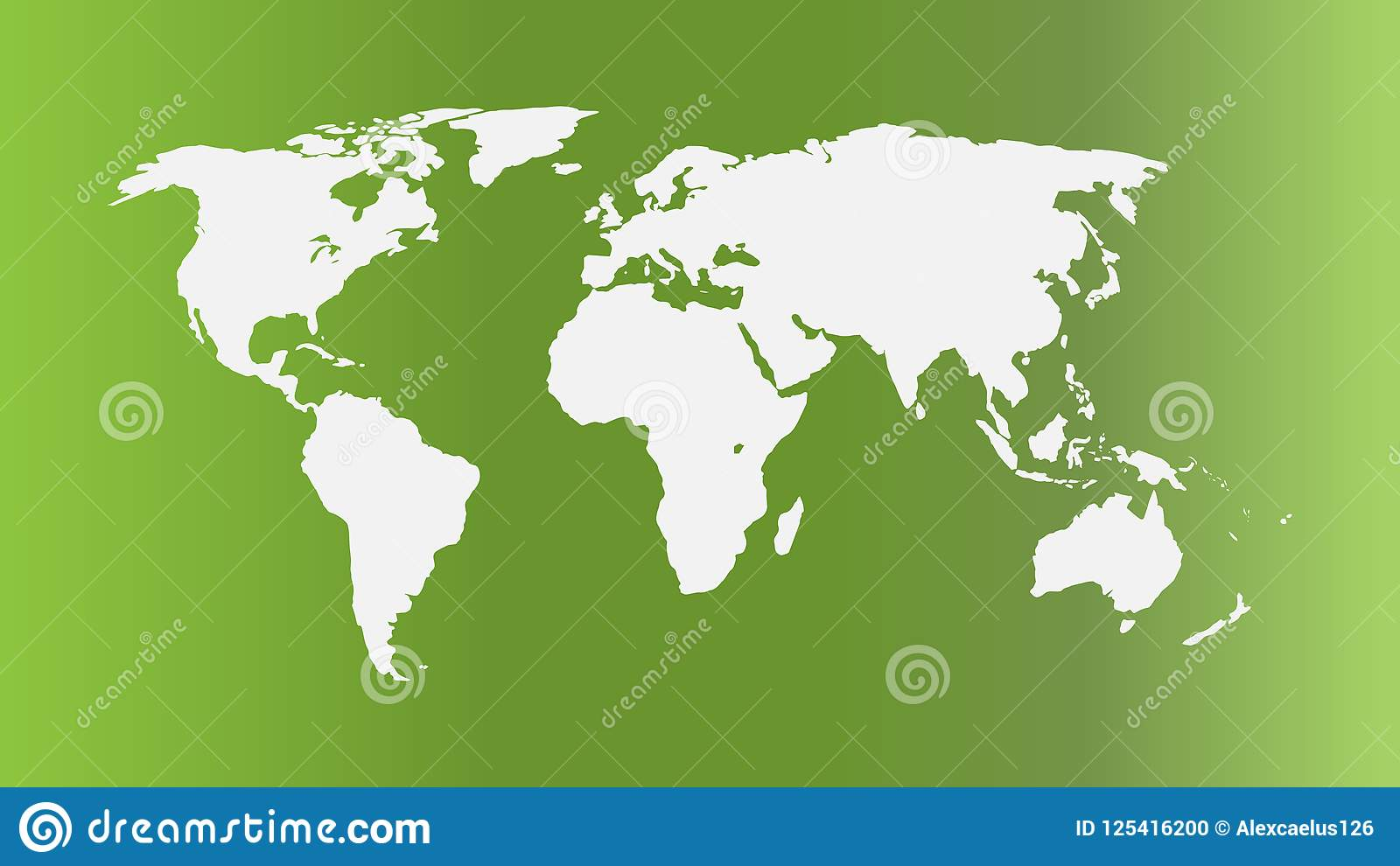 Flat World Map Vector.World Map Vector Ecology Concept Green World Flat Earth Map For