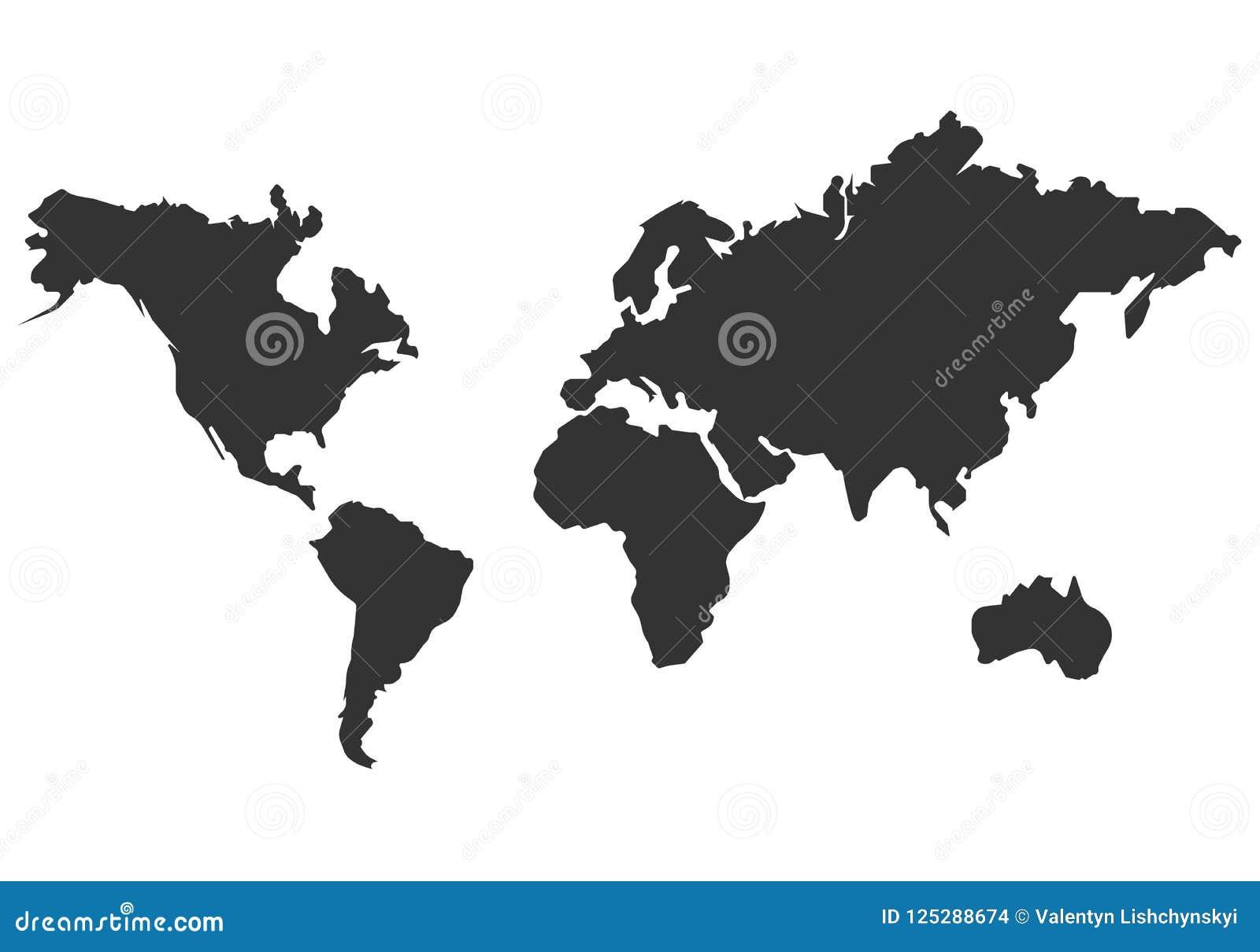 world map vector icon. simple Flat design