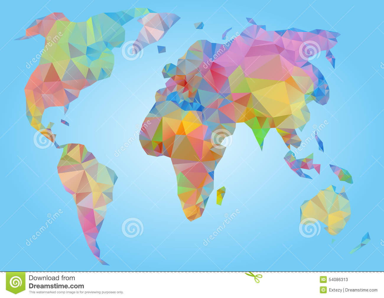 World map vector polygonal triangle geometric stock vector download comp gumiabroncs Image collections