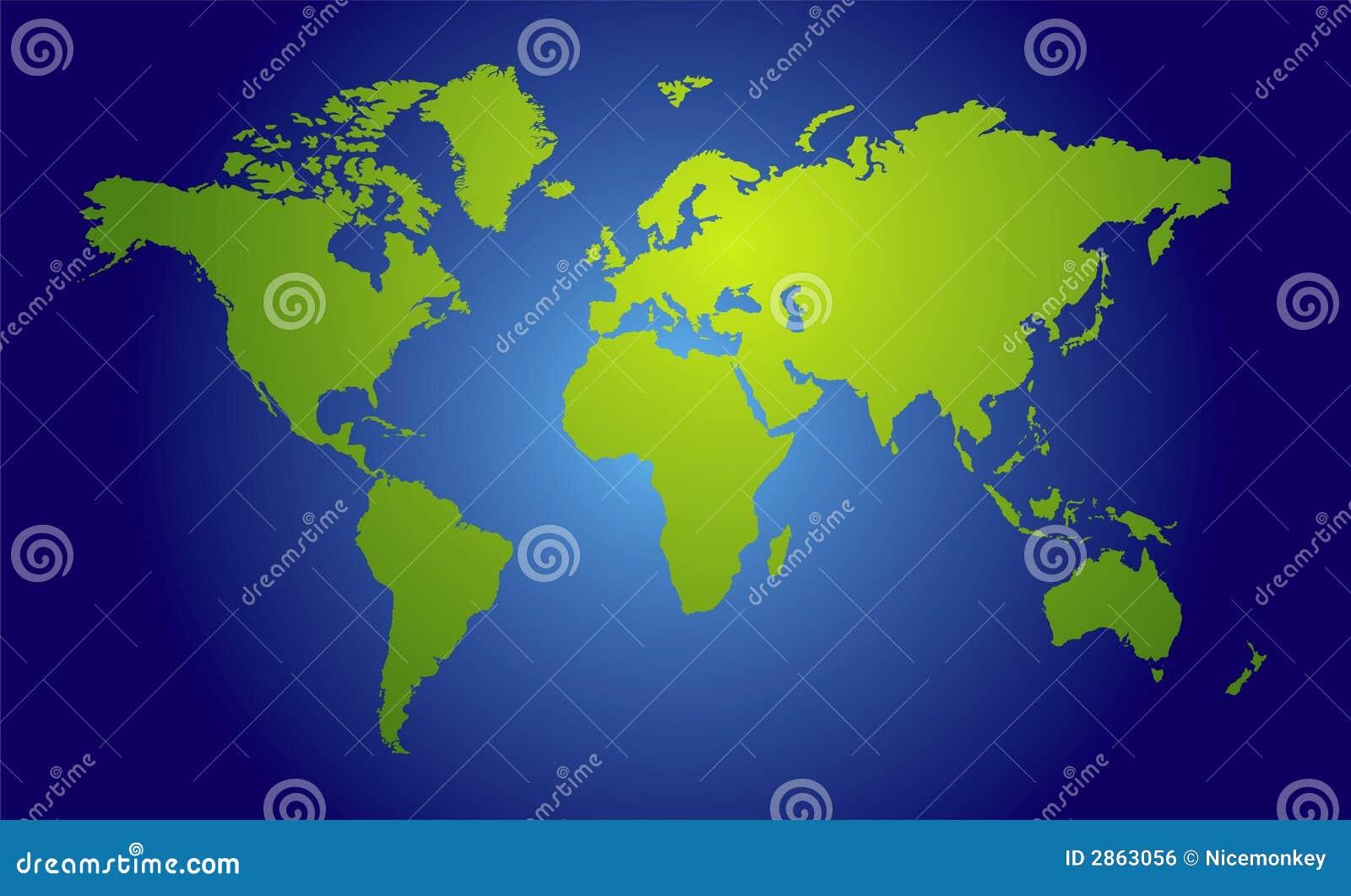 World Map View Stock Vector Illustration Of Line Ocean 2863056